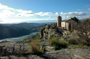 Siurana_-_Pantà_i_església